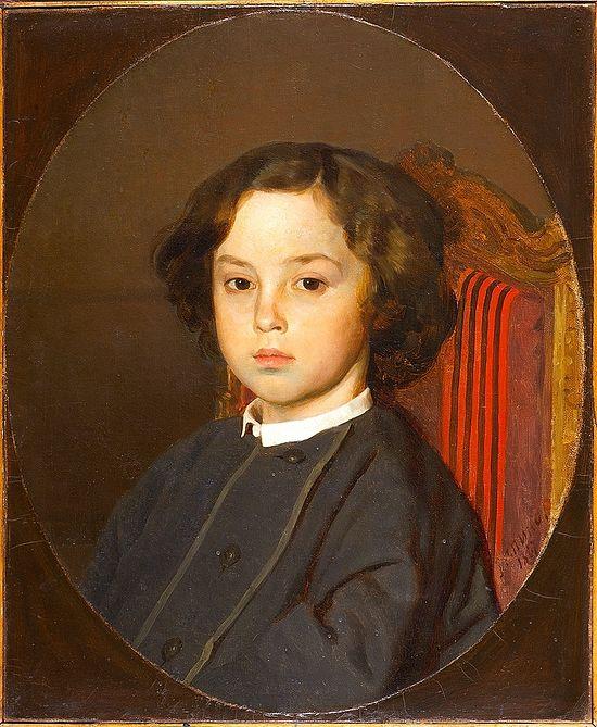Илья Репин. Портрет мальчика. 1867 г. Таганрогский художественный музей