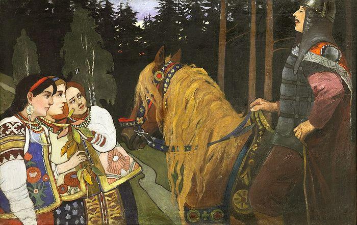 Иван Билибин. Витязь (Алеша Попович). 1902 г. Ярославский художественный музей
