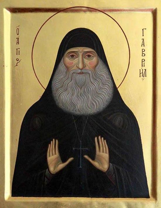 Преподобный Гавриил (Ургебадзе). Автор: иконописец Роман Илюшкин