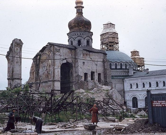 The Kiev Caves Lavra before the restoration