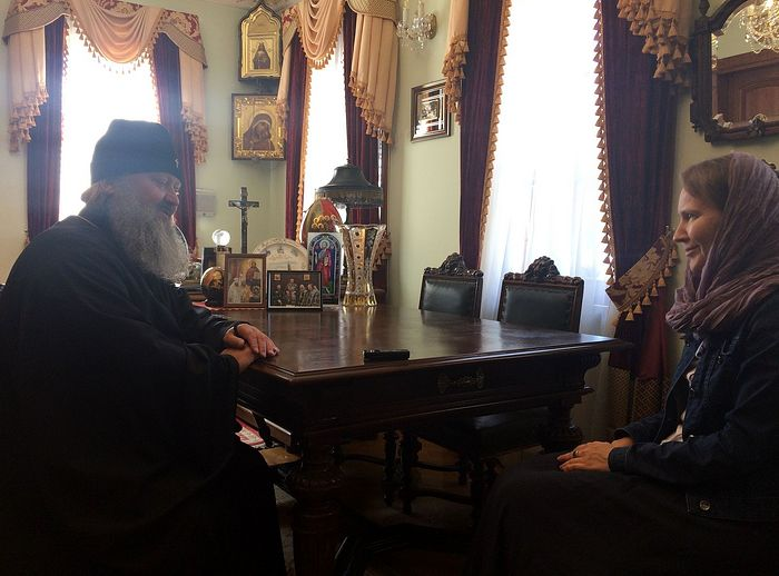 With Metropolitan Pavel (Lebed)