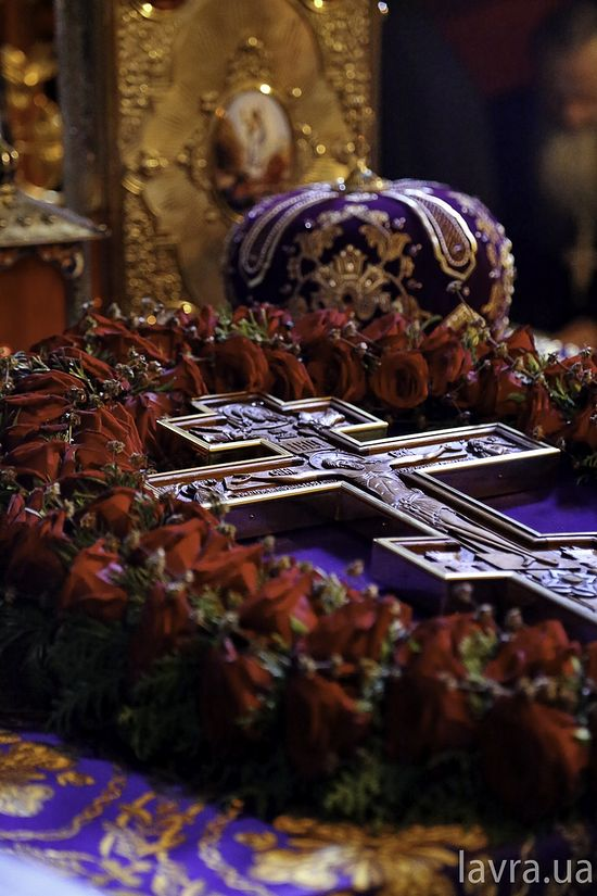 The feast of the Exaltation of the Holy Cross in the Lavra