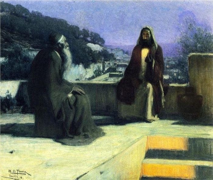 Nicodemus Visiting Jesus. Artist: Henry Ossawa Tanner. Photo: wikiart.org