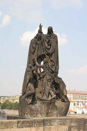 Monument to Sts. Cyril and Methodius in Prague