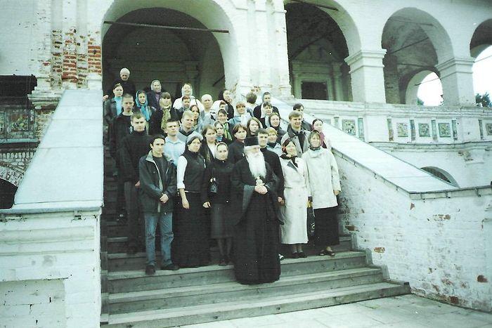 Митрополит Питирим, преподаватели кафедры и студенты МИИТа в Иосифо-Волоцком монастыре