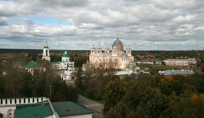 Панорама и вид верхотурского Свято-Николаевского мужского монастыря