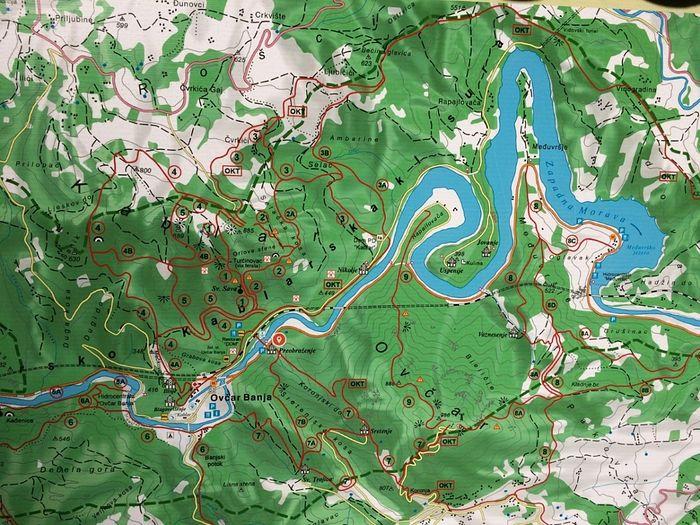 Карта Овчар-Кобларского ущелья