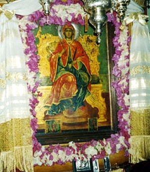 Икона св.Марины в монастыре см.Марины на острове Андрос. Греция.