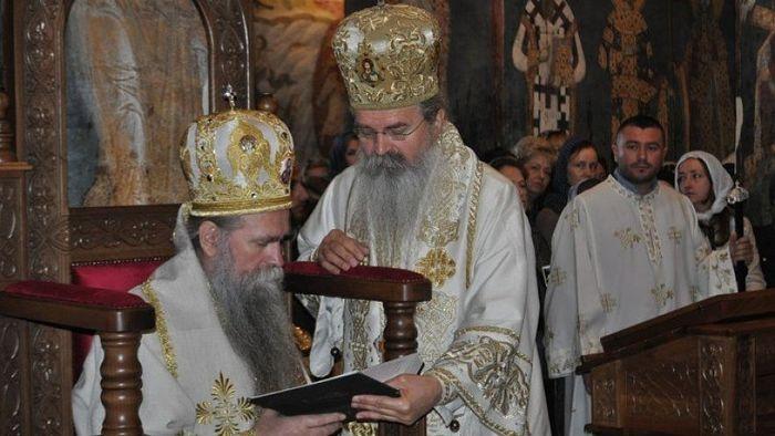 Епископ будимљанско-никшићки Јоаникије и Епископ рашко-призренски Теодосије