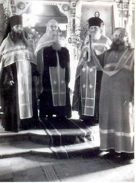 отец Геронтий (Губанов), отец Зосима и другие священнослужители из братии