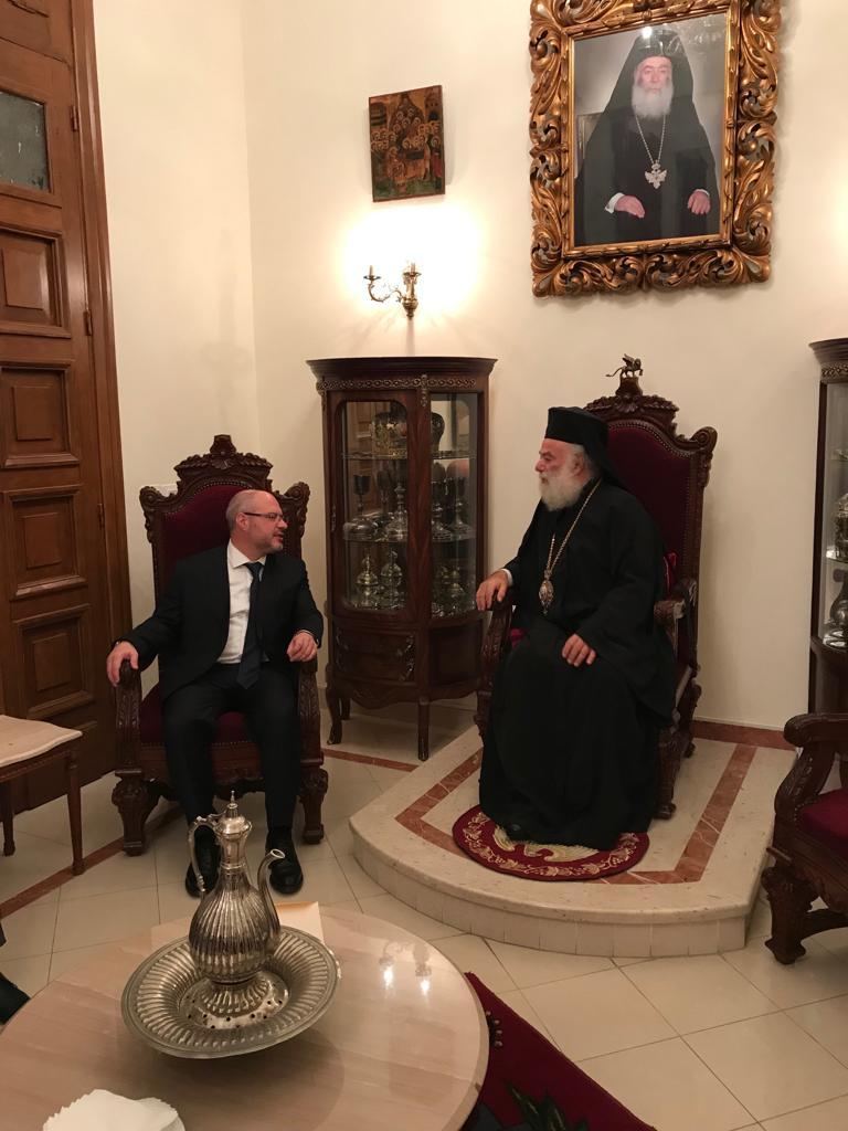 Патриарх Александрийский Феодор встретился с Президентом Межпарламентской Ассамблеи Православия Сергеем Гавриловым