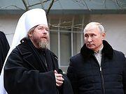 Владимир Путин посетил Свято-Успенский Псково-Печерский монастырь