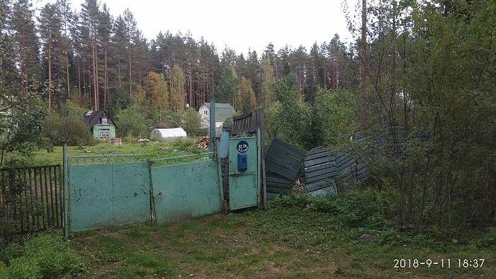 Место, где до недавнего времени стоял дом Сидоровых (пр. Ленина, 54). 2018 г.