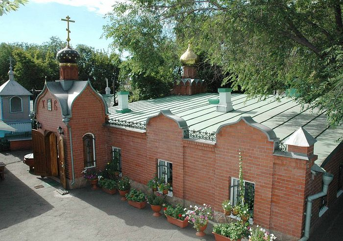 The church built by St. Sebastian of Karaganda (now the Convent of the Nativity of the Theotokos)