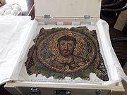 Архиепископу Кипрскому передана мозаика св. апостола Марка, украденная из храма на Севере Кипра