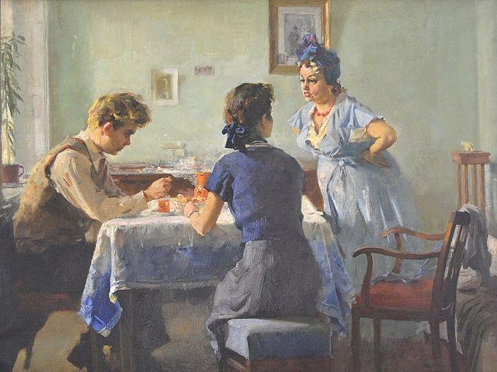 Тёща. Художник: Виктор Зарецкий. 1954 г.