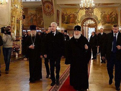Патриарх Кирилл и Сергей Собянин ознакомились с результатами реставрационных работ в московских храмах