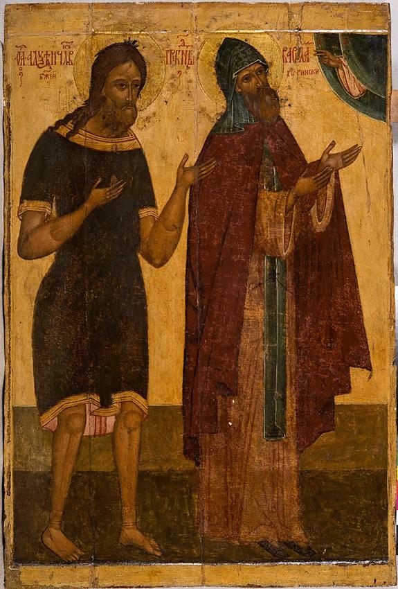 Преподобные Варлаам Хутынский  и Алексий, человек божий