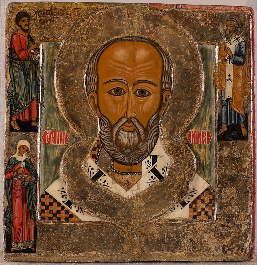 Святитель Николай, с избранными святыми