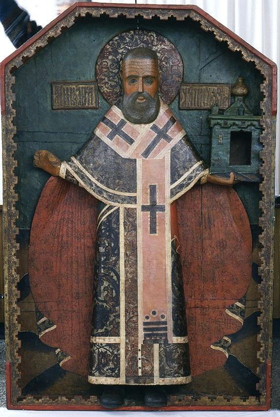 Святитель Николай Чудотворец  (Никола Можайский), в киоте