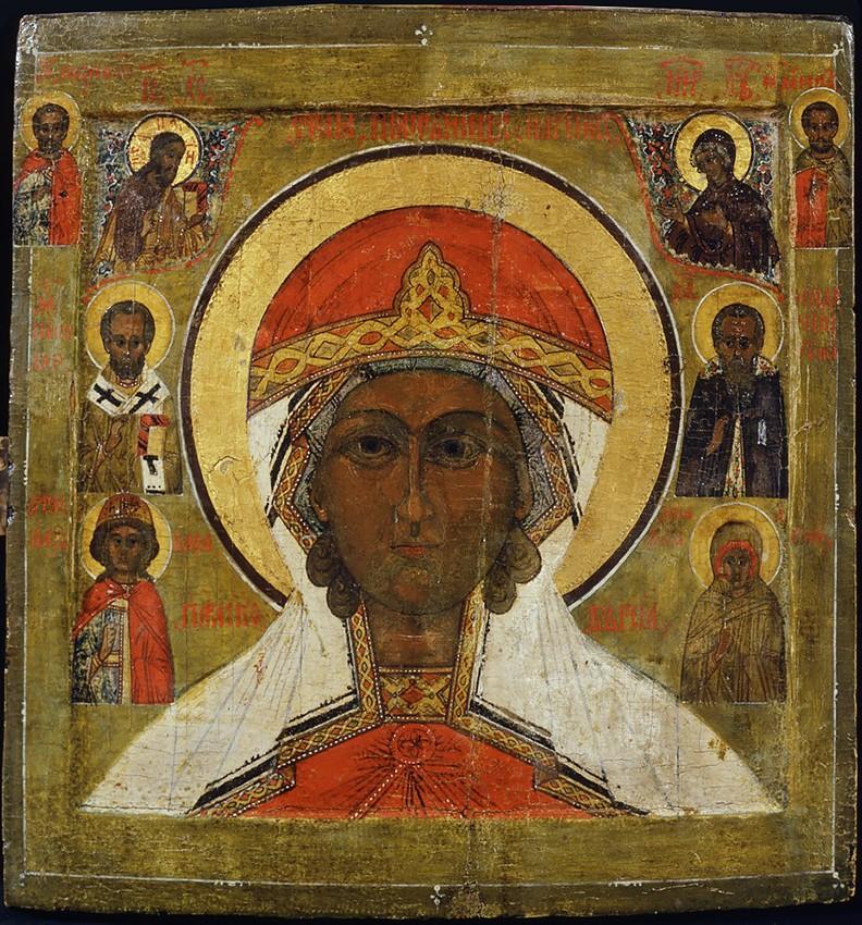 Великомученица Параскева, с избранными святыми