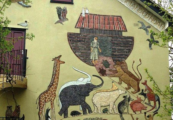 Ноев ковчег. Мозаика. Монастырь св. Иоанна Крестителя в Эссексе (Англия), основанный архим. Софронием (Сахаровым)