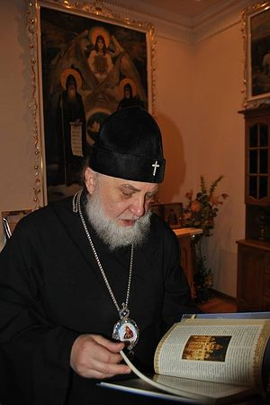 The abbot of the Lavra in his office