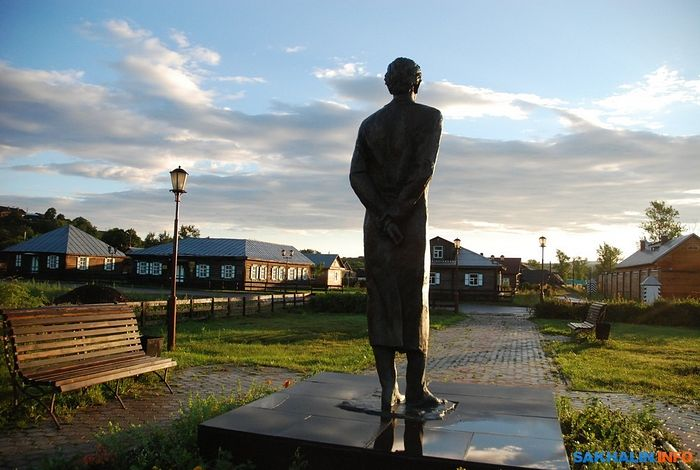 Aleksandrovsk-Sakhalinsky. The monument to the writer Anton Chekhov.