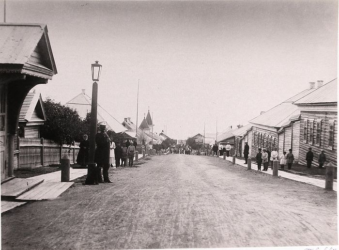 The main street of Yuzhno-Sakhalinsk's post Korsakov. 1891.