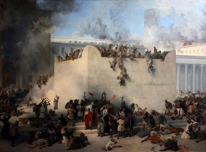Francesco Hayez. Destruction of Temple of Jerusalem (1867). Photo: Wikipedia