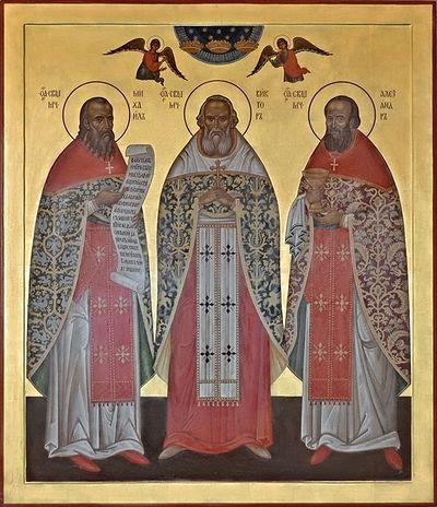Hieromartyrs Mikhail, Viktor, and Alexander. Photo: azbyka.ru/palomnik