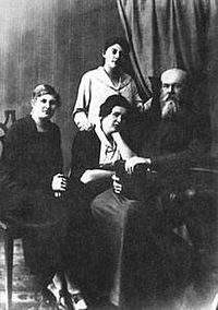 Holy Hierarch Sergius (Zverev) with his daughters.