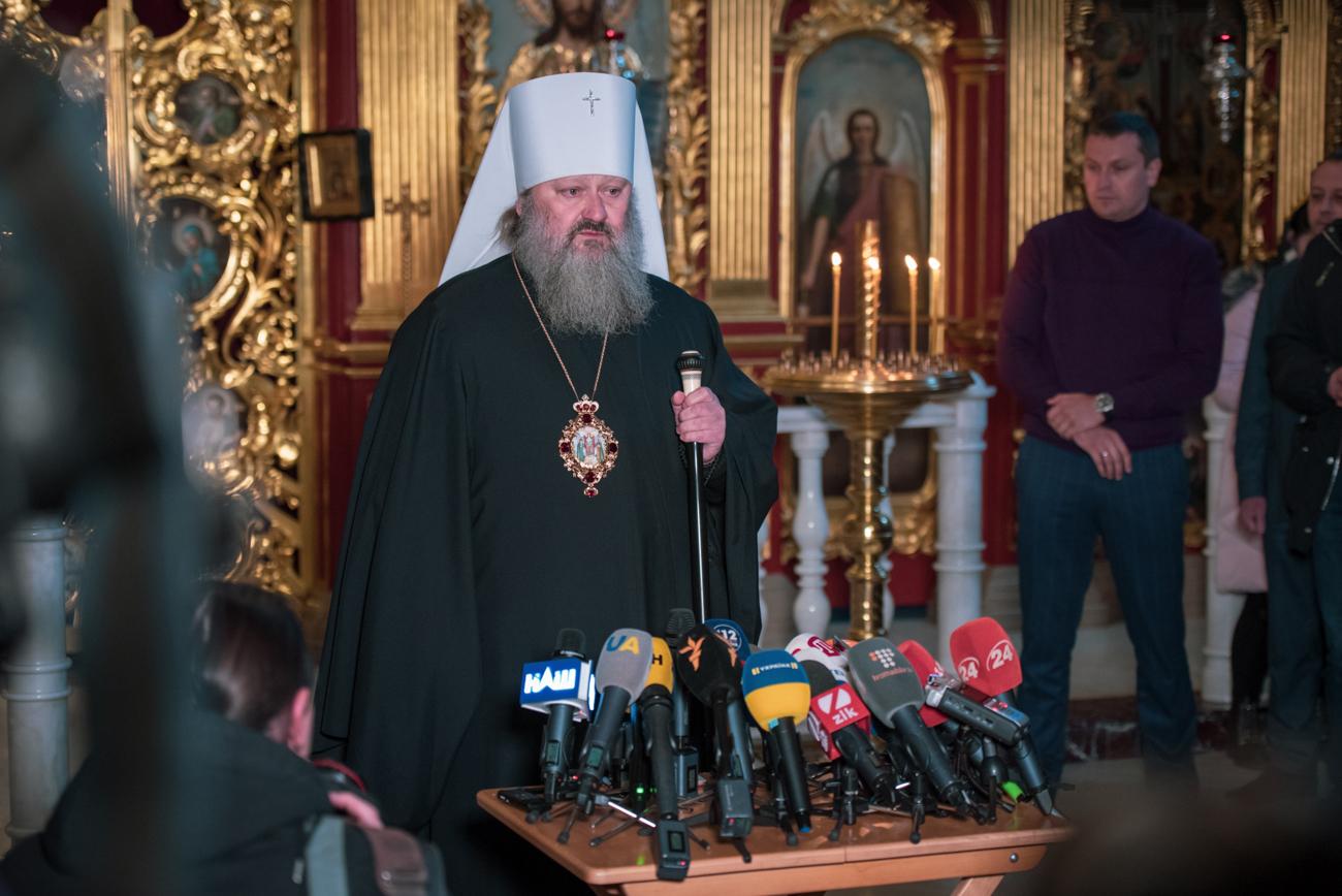 Наместник Киево-Печерской Лавры отверг обвинения СБУ в участии к подготовке провокаций в Киеве