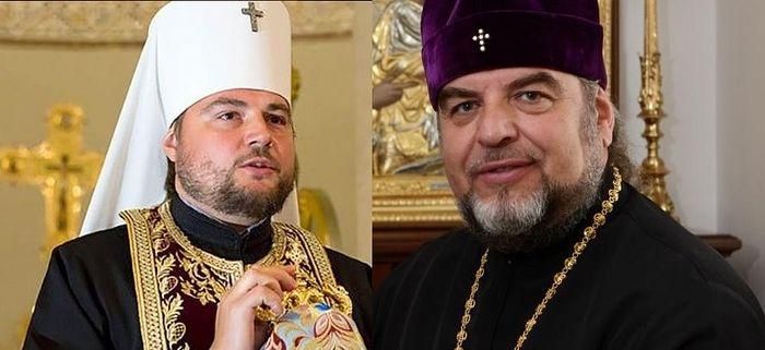 Former Metropolitan Alexander (left), Former Metropolitan Simeon (right)