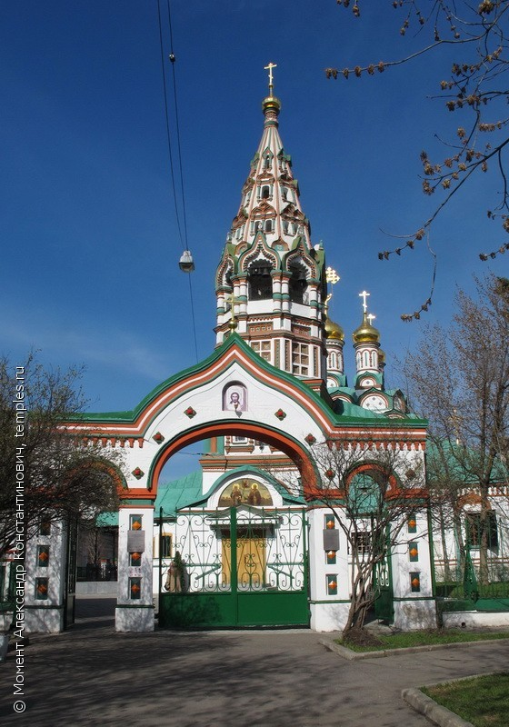 Church of St. Nicholas the Wonderworker in Khamovniki. 1679 – 82.