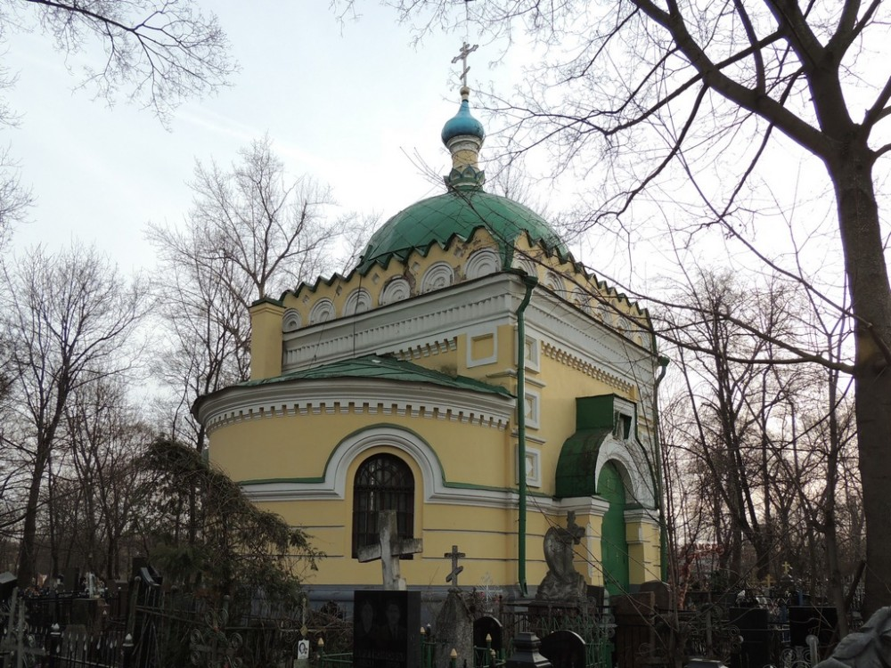 Church of St. Nicholas the Wonderworker at the Danilov cemetery.