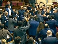 Fight breaks out after Ukrainian Parliament votes to force Ukrainian Church to change its name as pretext to church seizures