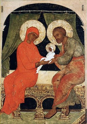 Righteous Joachim and Anna, with the child Theotokos.