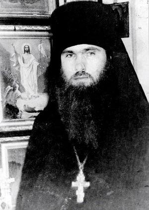 На фото: отец Ипполит в Псково-Печерском монастыре, 1966 г.