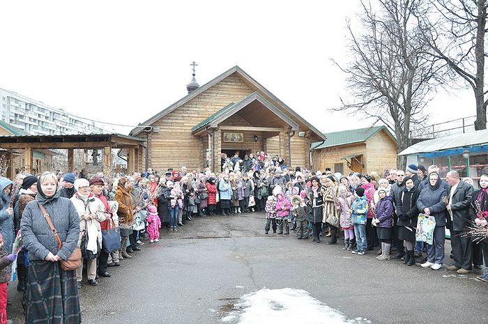 Вербное воскреснье в храме преп. Иосифа Волоцкого