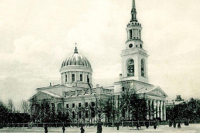 Андреевский собор в Кронштадте, старинная открытка