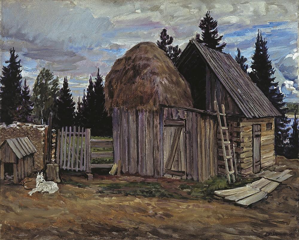 A Siberian farmstead