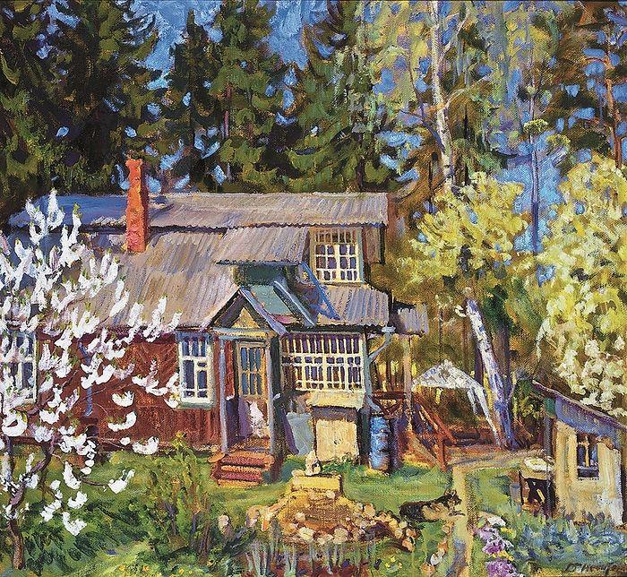 Dmitry Nechitaylo. Spring at Olga Leopoldovna's Country Estate