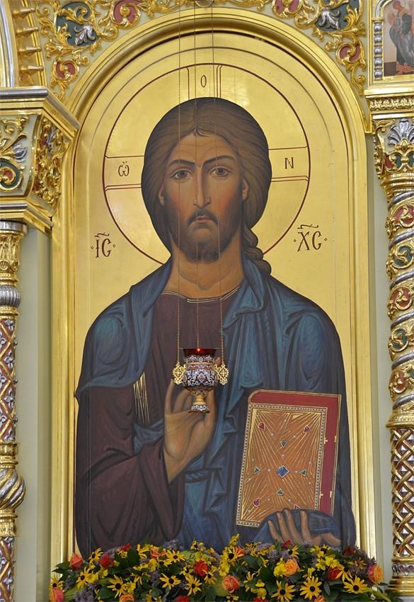 Господь Вседержитель. Икона нижнего яруса иконостаса