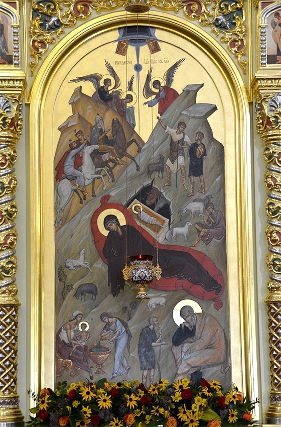 Η Γέννησις του Χριστού. Εικόνα του κάτω επιπέδου του τέμπλου