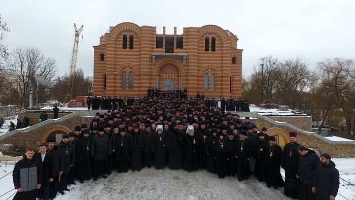 The clergy of the 3 dioceses of the Vinnitsa Province. Photo: vinnytsia.church.ua