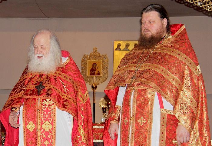 С отцом Валерианом протоиерей Максим Миняйло