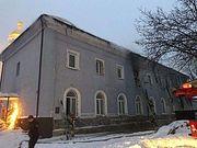 Пожар в здании на территории Киево-Печерской Лавры потушили