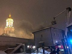 Fire breaks out on territory of Kiev Caves Lavra, monastery not damaged