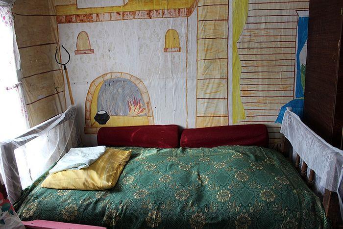 В гостинице для туристов деревни Сейты
